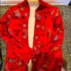 Jackets & Blazers - Asian silk coat